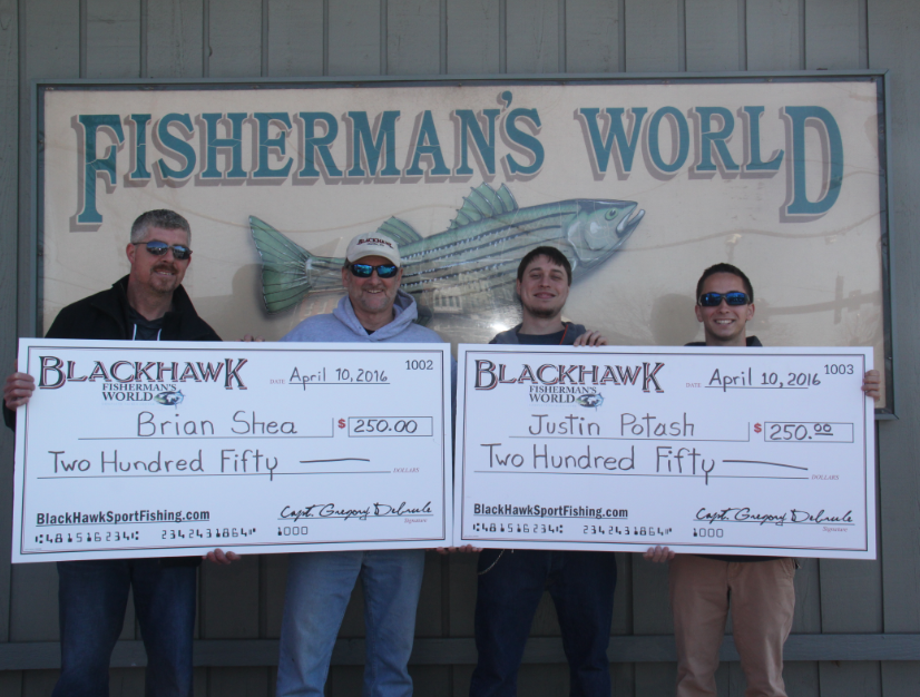 2016 Trout-a-Thon Tournament Winners! Connecticut deep sea fishing