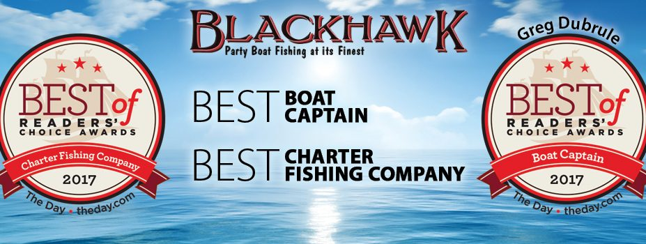 Blackhawk Sport Fishing voted number 1 charter boat fishing in Connecticut